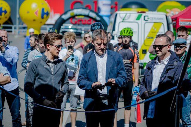 Gwiazdy otworzyły mobilne Muzeum Tour de Pologne w Grudziądzu