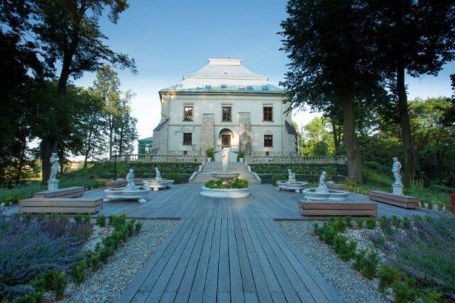 Ogród Tarasowy przed Pałacem Odrowążów