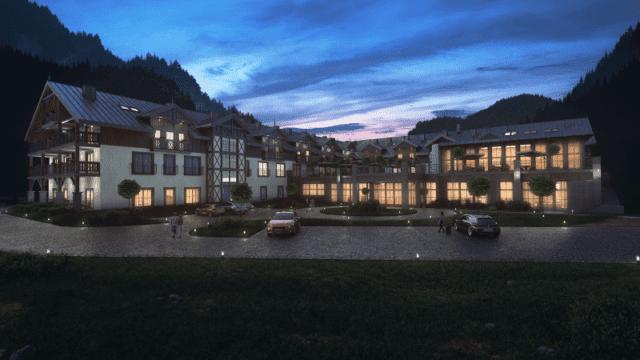 Nowy hotel w Pieninach