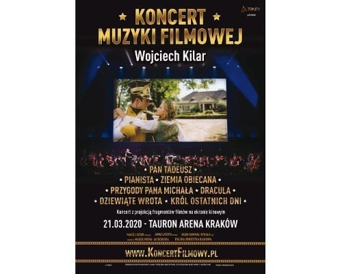 Koncert Filmowy Wojciech Kilar 21.03.2020 Krakow - plakat