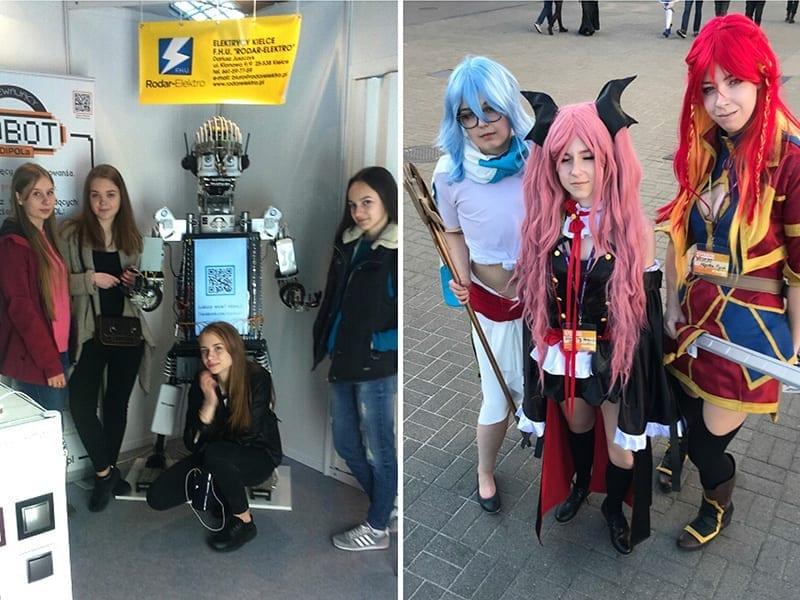 Robot firmy DIPOL i Wcielanie się w fikcyjne postacie - cosplay.