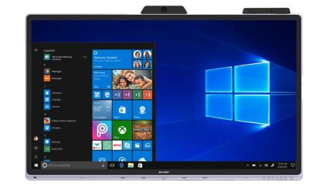 Pierwszy na świecie monitor interaktywny Windows